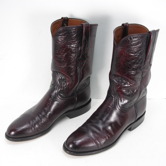 Black Cherry Lucchese Roper Boots